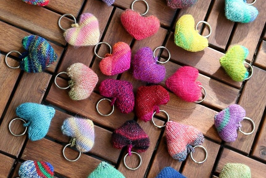 knit hearts tutorial