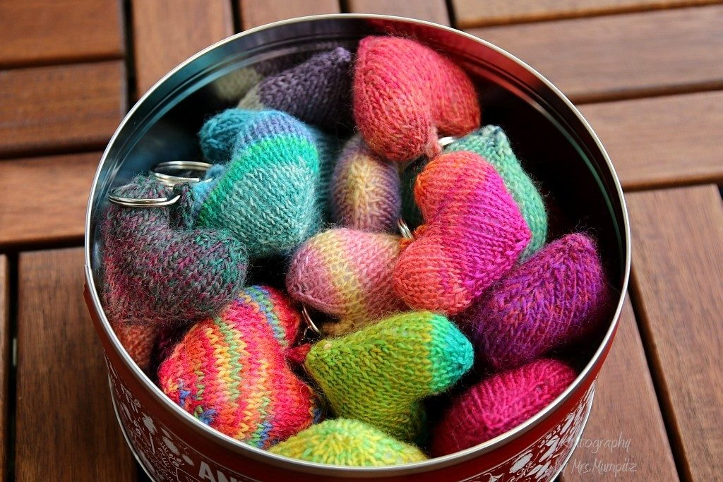 free knit hearts tutorial