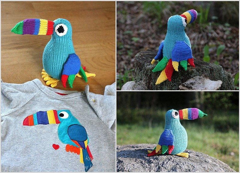 Toucan toy knitting pattern
