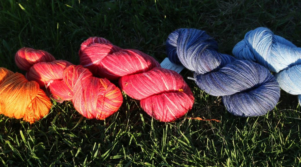 Beautiful yummy handdyed yarns from Hearthsidefibers