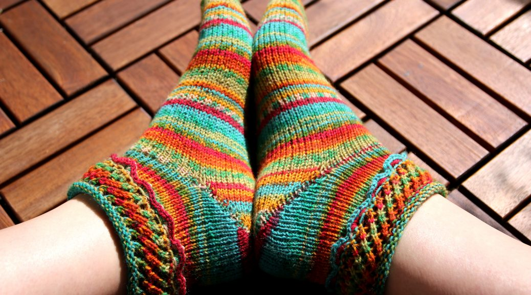in Bloom matching socks