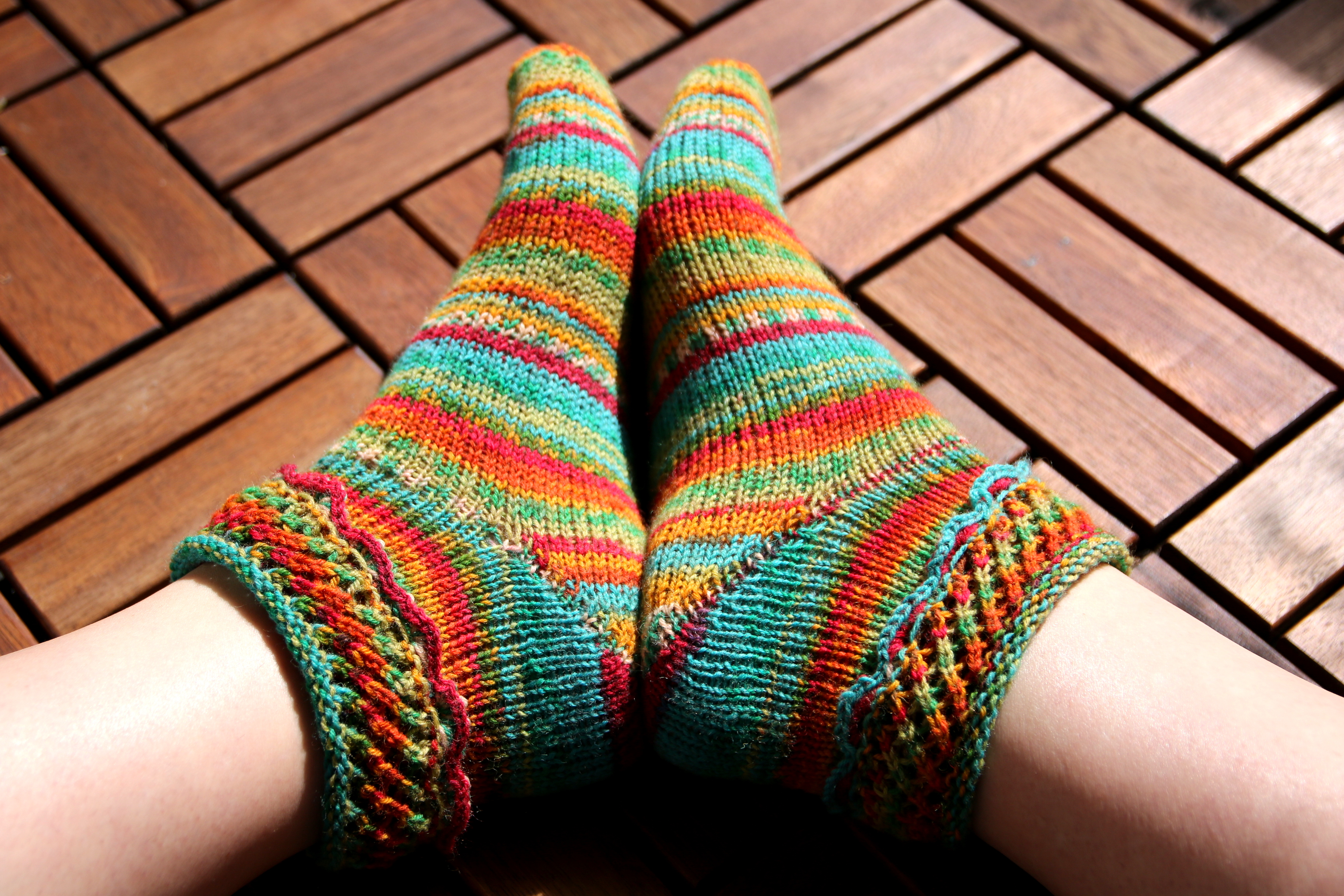 in Bloom matching socks