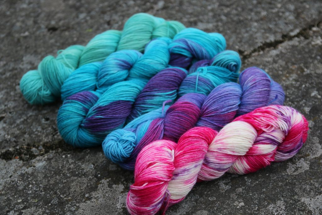 Hand dyed yarns by Mrsmumpitz