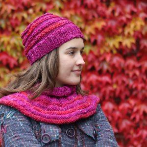 Roundabout neckwarmer knitting pattern