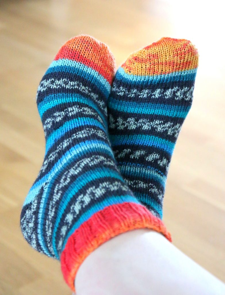 handknit socks by Mmumpitz Design