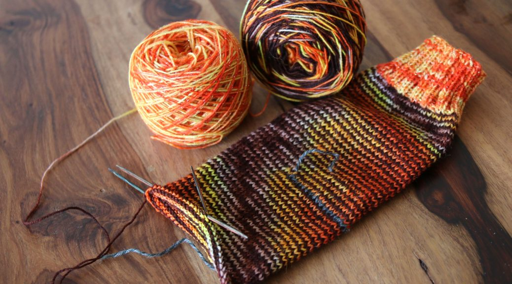 Hdnknit socks from hand dyed yarns