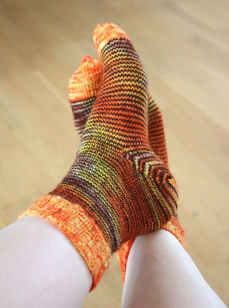 Socks from hand dyed yarn