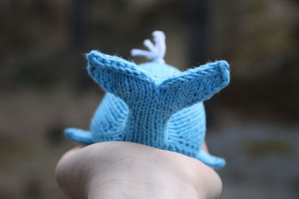 knit a whale knitting pattern - in support of the WWF!