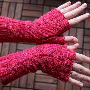 Dart mitts knitting pattern