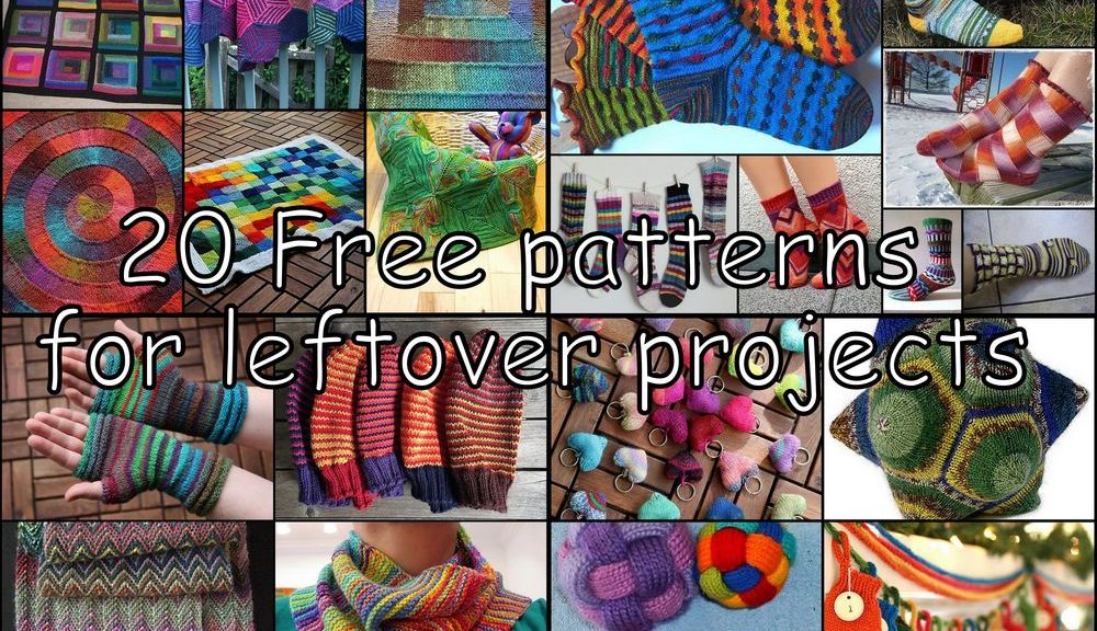 20 free patterns for leftover projects