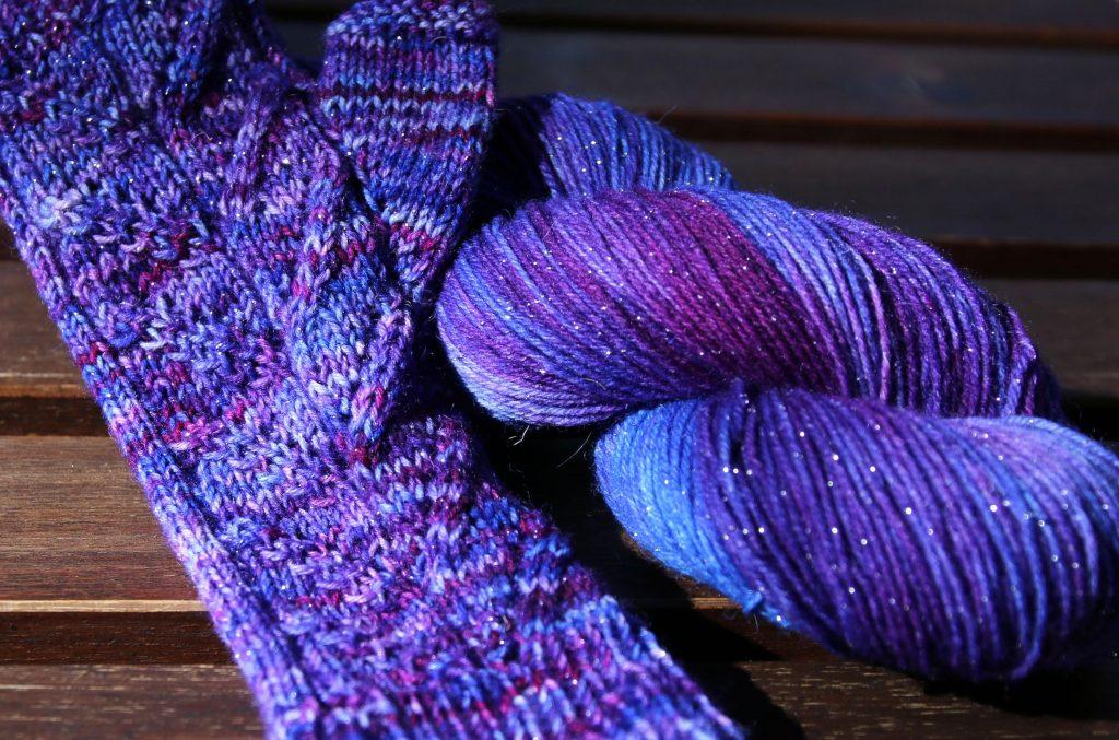 Mumpitz Design Sock glitter handdyed yarn