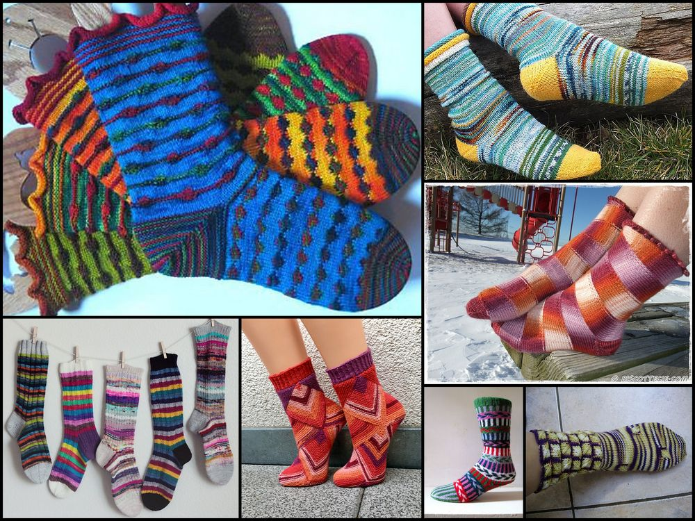 free sock pattern inspiration for leftovers
