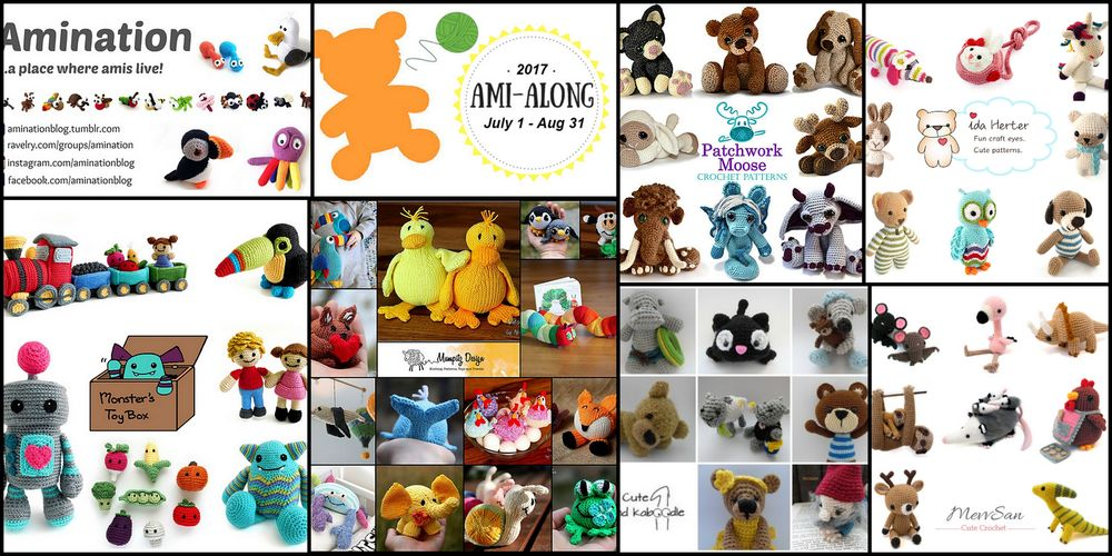 Amigurumi knit and crochet along 2017 designers