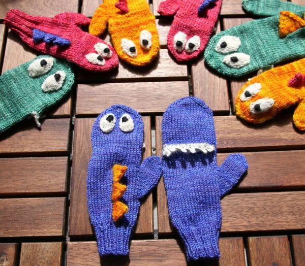 Monster Mittens knitting pattern