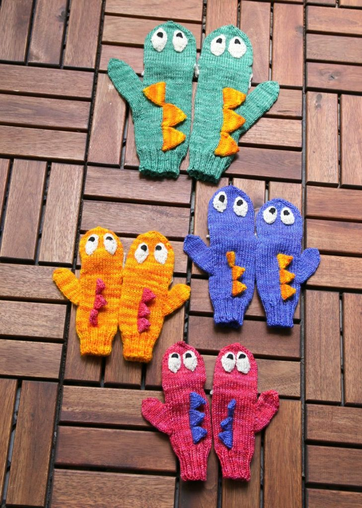 Monster Mittens knitting pattern