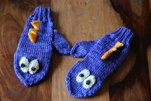 Convertible Monster Mittens knitting pattern