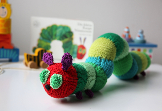 Cuddle Me Caterpillar knitting pattern