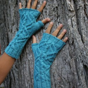 Jormungandr mitts knitting pattern