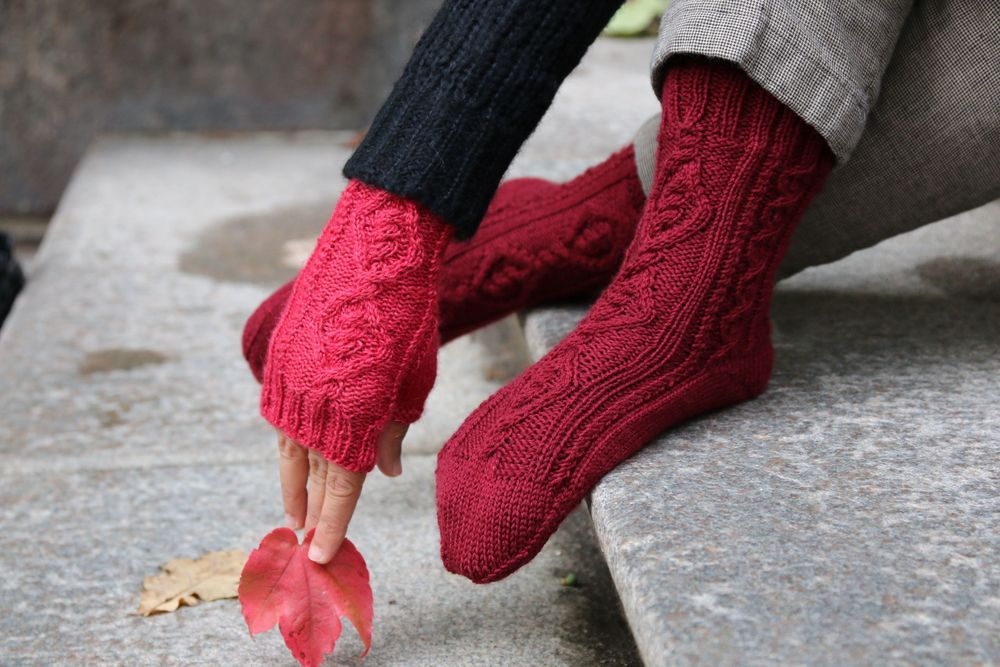 Odens socks and Mitts knitting patterns