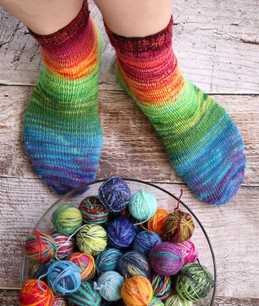 Happy scrappy socks