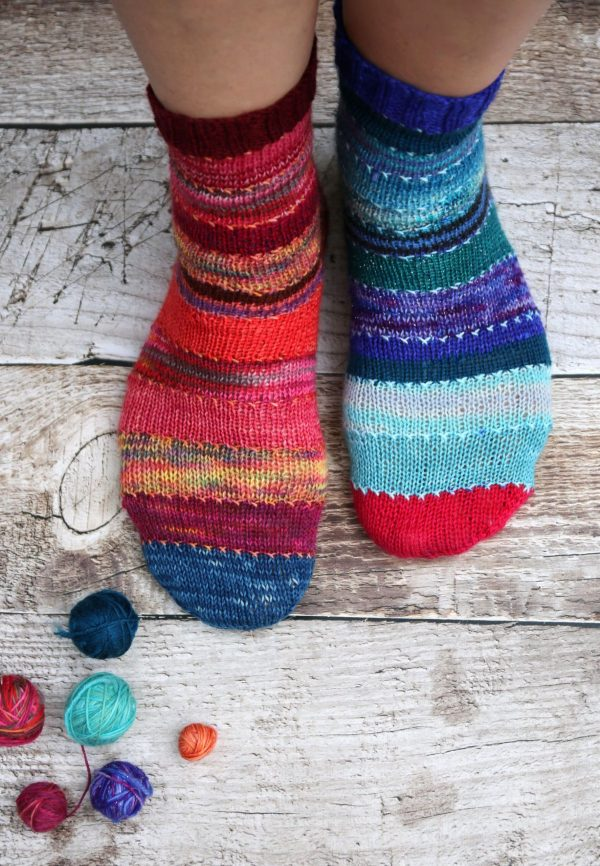 Scrappily ever after sock by mumpitz.design