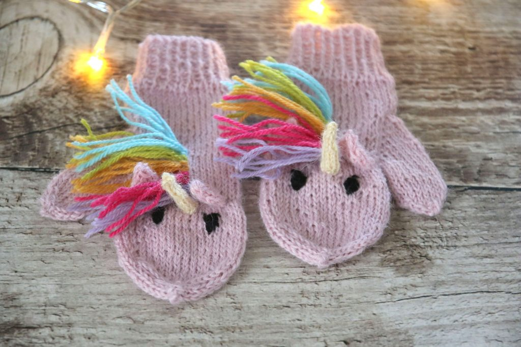 Unicorn Mittens for kids and adults
