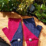 Mrs.Mumpitz Black and White Mittens knitting pattern