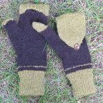 Mrs. Mumpitz convertible mitts with thumb flap knitting pattern