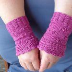 In Bloom Fingerless Mittens knitting pattern