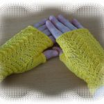 Chase the Dragon mitts knitting pattern