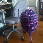 hot air balloons mobile knitting pattern