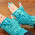 pointy mitts knitting pattern