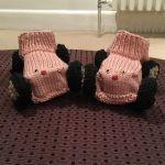 Racing Car Booties knitting pattern