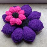 Crazy flowers knitting pattern